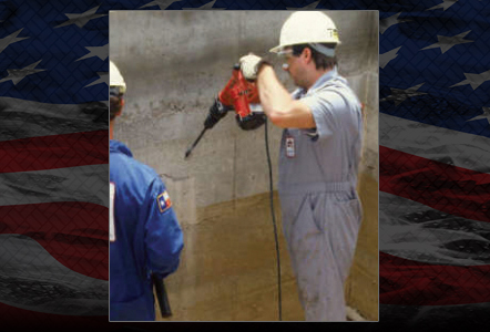 Basement Waterproofing Injection Hole Drilling