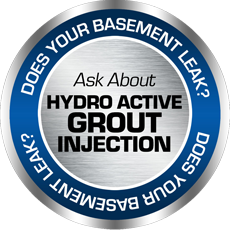 Does your basement leak? Ask About Hydro Active Grout Injection